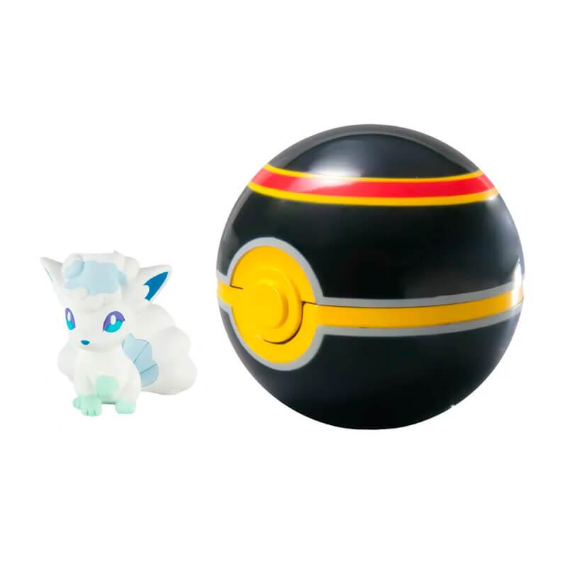 Boneco Pokémon Clip N' Carry - Vulpix de Alola + Luxury Ball | TOMY/Sunny