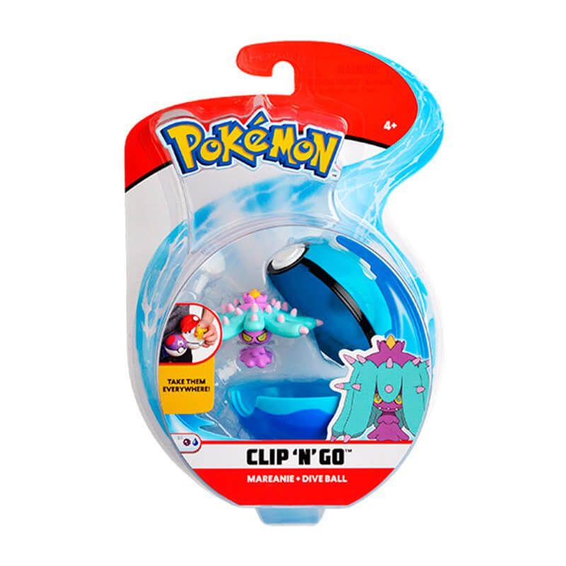 Boneco Pokémon Clip N Go - Bola Mergulho e Mareanie | WCT/DTC