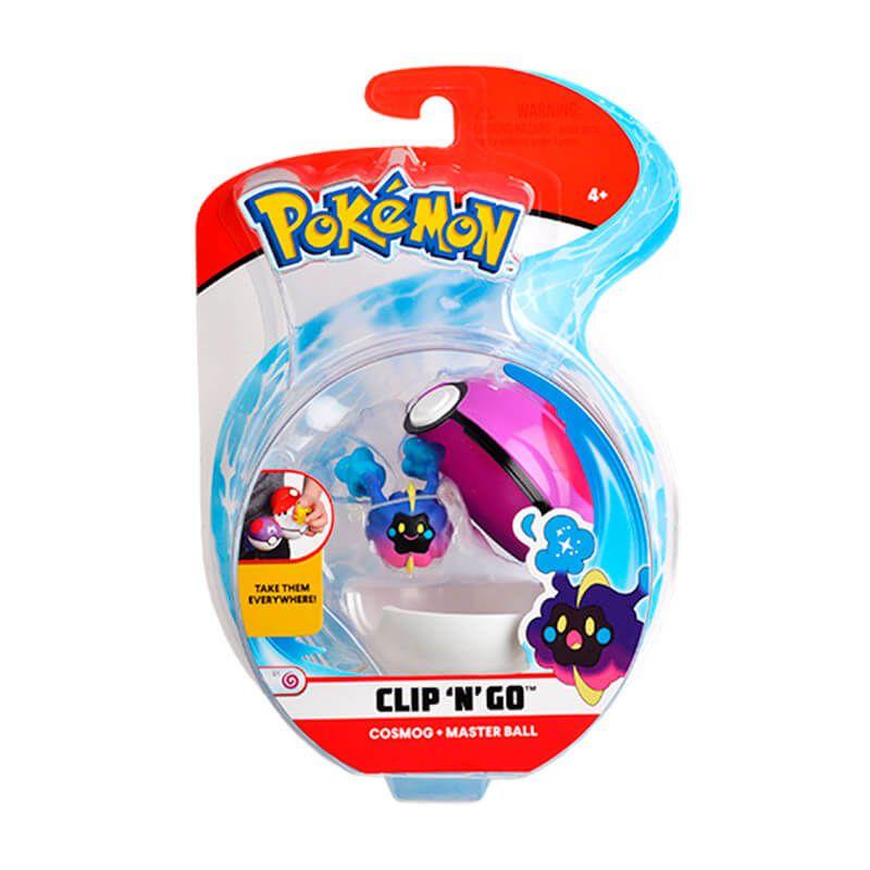 Boneco Pokémon Clip N Go - Bola Mestra e Cosmog | WCT/DTC