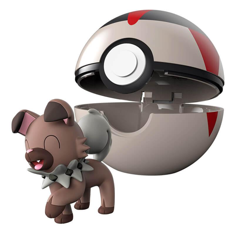 Boneco Pokémon Clip N Go - Bola Tempo e Rockruff | WCT/DTC