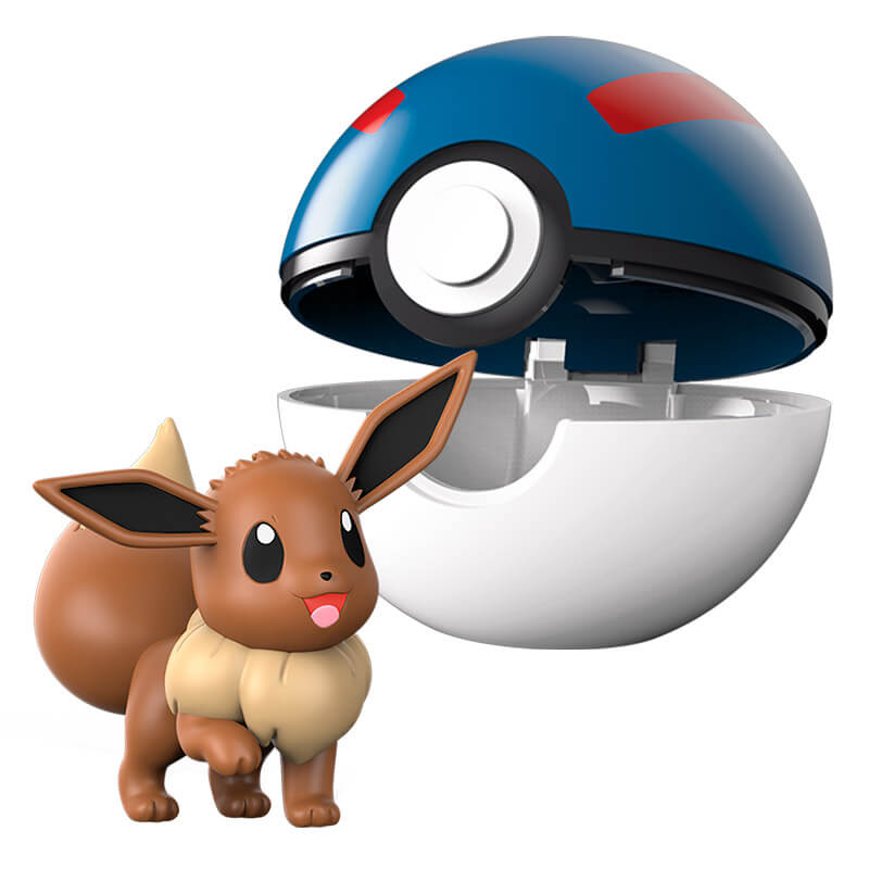 Boneco Pokémon Clip N Go - Grande Bola e Eevee | WCT/DTC