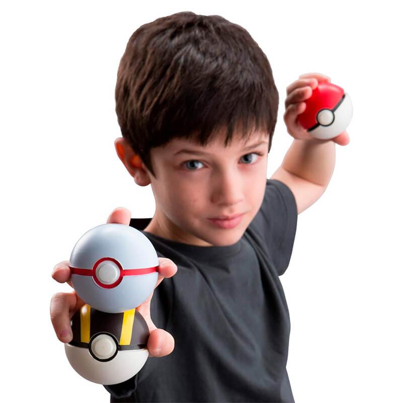 Bola Macia Pokémon Throw N' Catch - Pokébola + Ultra Bola + Bola Prêmio | TOMY/Sunny