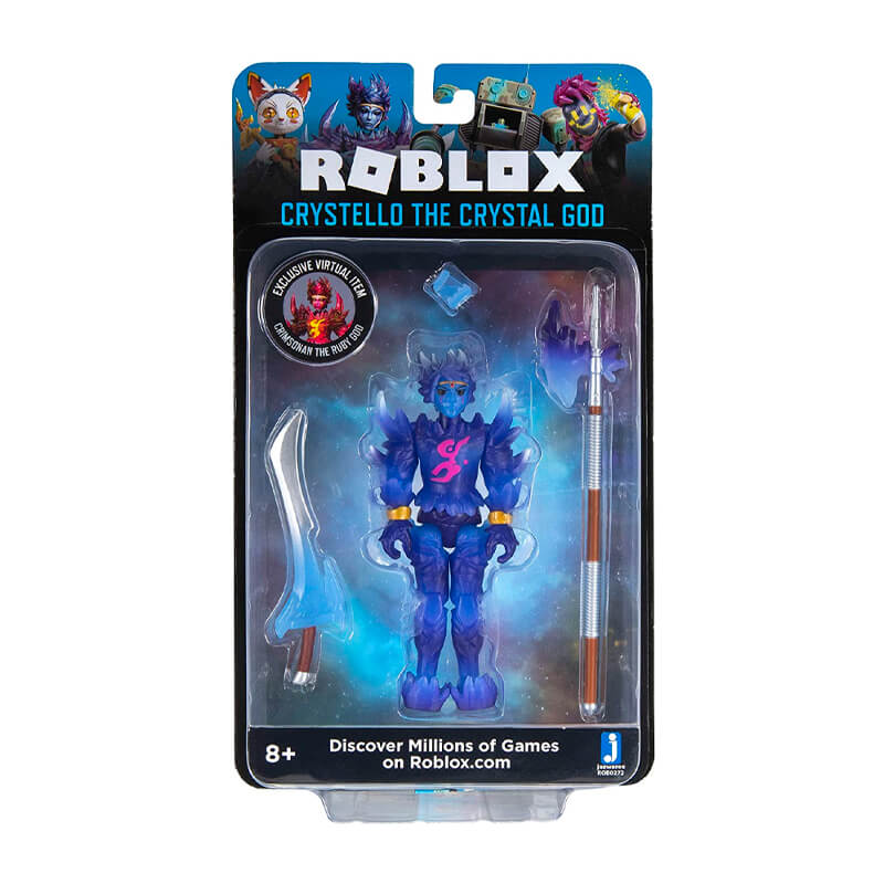 Bonecos Roblox: Imagination Collection - Crystello The Crystal God +  Digital Artist + Lucky Gatito + Noob Attack - Mech Mobility | Jazwares/Sunny