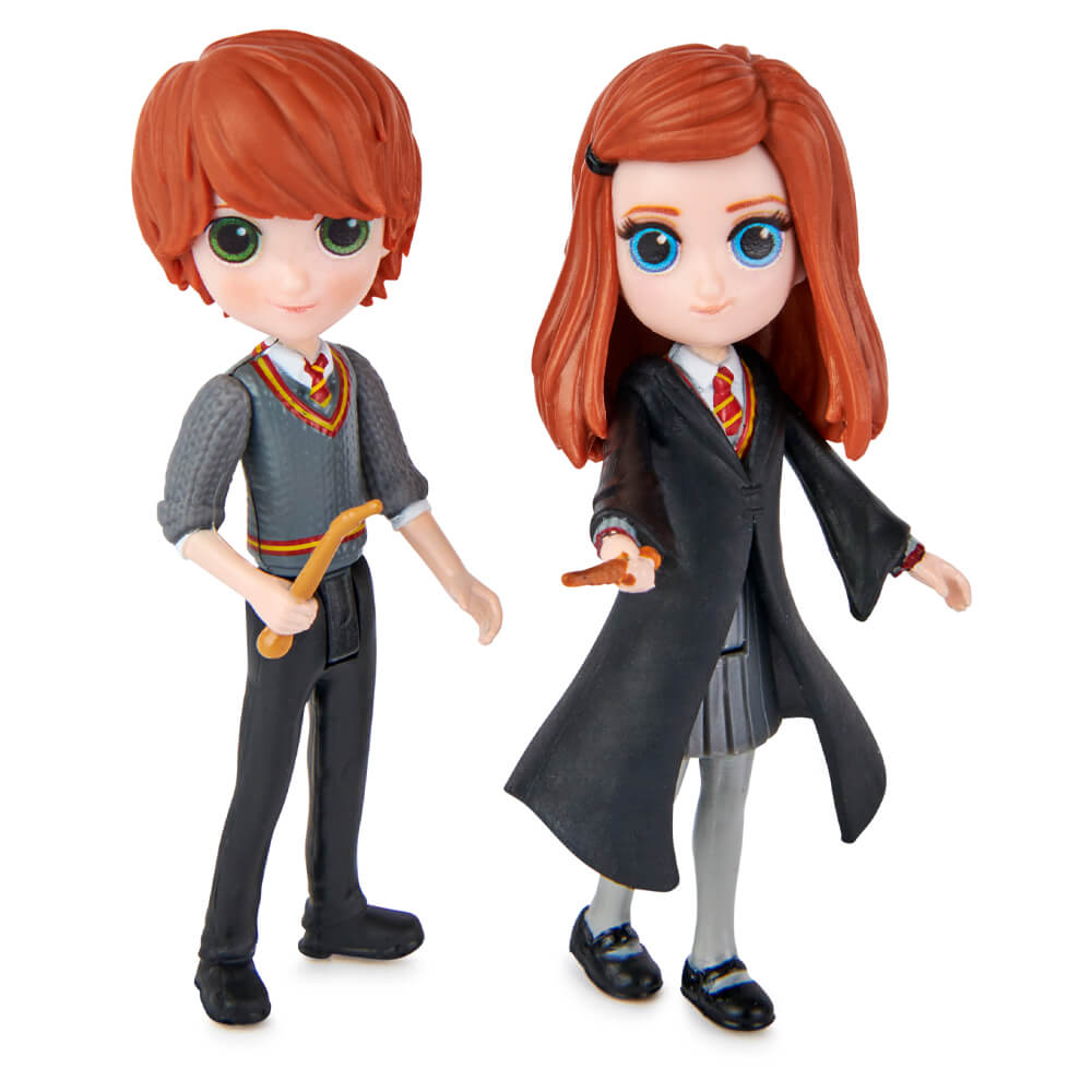 Bonecos Harry Potter Magical Minis Friendship Set - Ron Weasley e Ginny Weasley | Spin Master