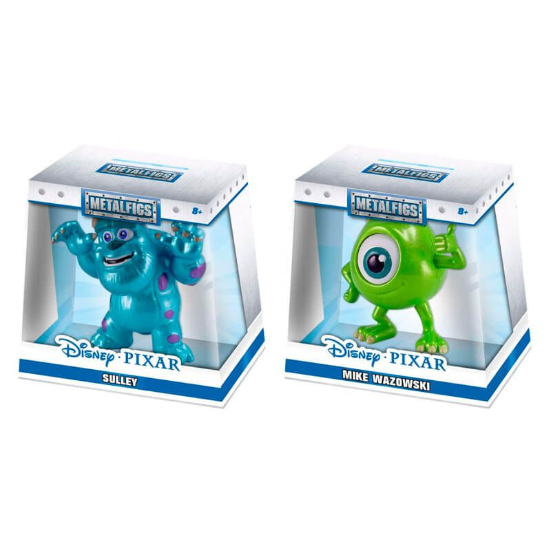 "Bonecos Monstros S.A. MetalFigs 2,5"" - Sulley e Mike Wazowski 