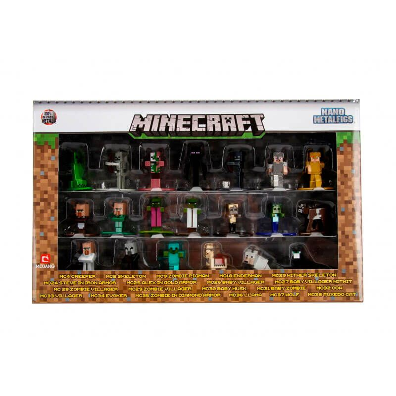 "Bonecos Nano MetalFigs 1,65"" - 20-Pack Minecraft | Mojang"