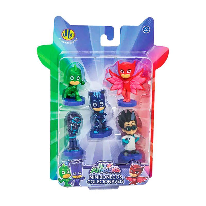 Bonecos PJ Masks Minibonecos Colecionáveis - 5 Figuras | DTC