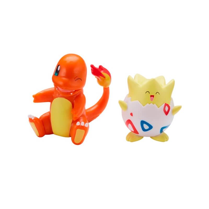 "Bonecos Pokémon Battle Figure Pack 2"" - Eevee + Bulbasaur, Togepi + Charmander e Snubbull + Squirtle   Jazwares"