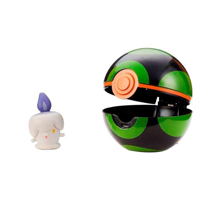 Bonecos Pokémon Clip 'N' Go com Litwick + Dusk Ball e Pikachu + Great Ball | Jazwares