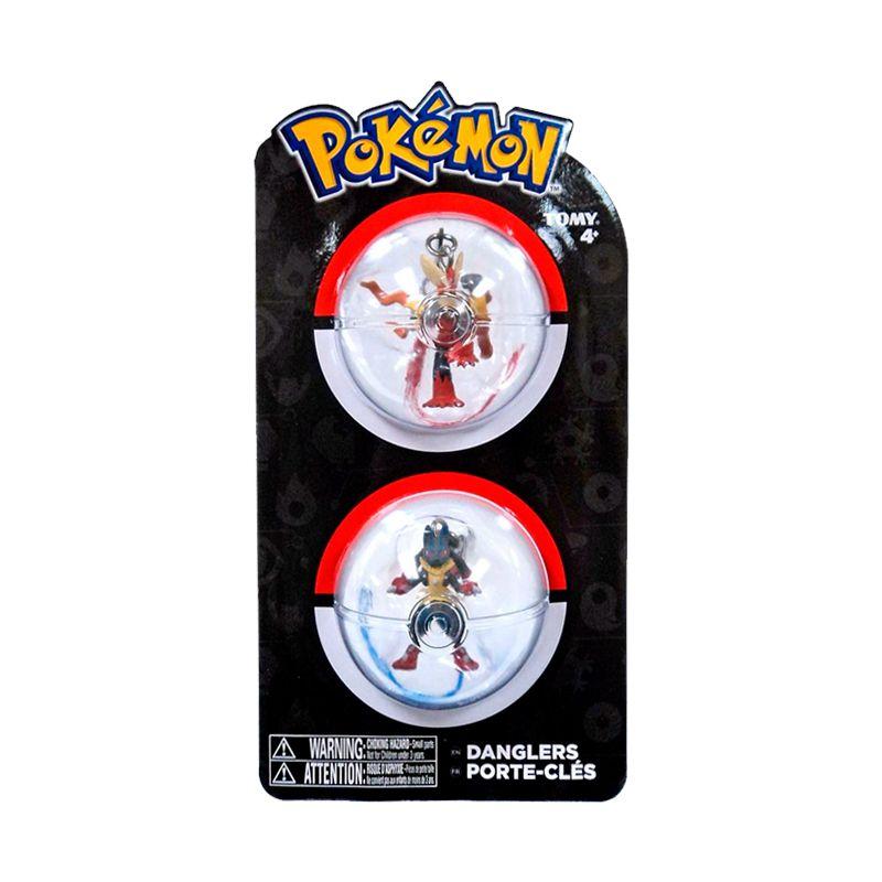 Chaveiros Pokémon - Mega Blaziken + Mega Lucario | TOMY/Sunny