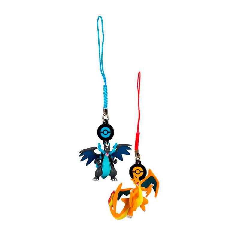 Chaveiros Pokémon - Mega Charizard X + Mega Charizard Y | TOMY/Sunny