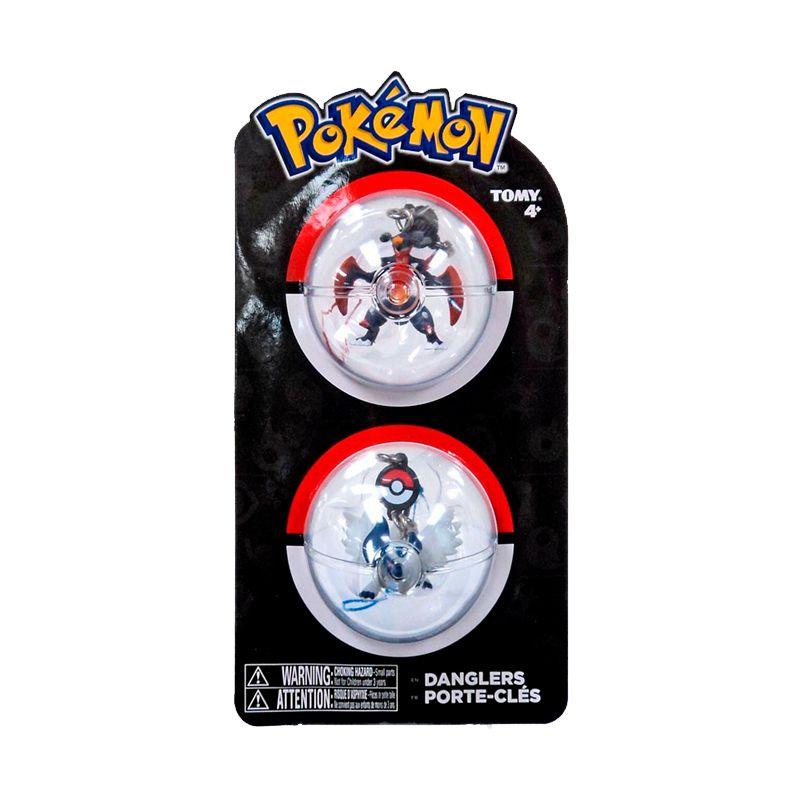 Chaveiros Pokémon - Mega Garchomp + Mega Absol   TOMY/Sunny
