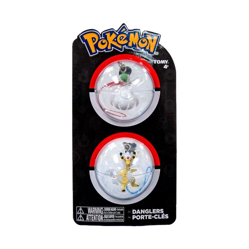 Chaveiros Pokémon - Mega Gardevoir + Mega Ampharos | TOMY/Sunny