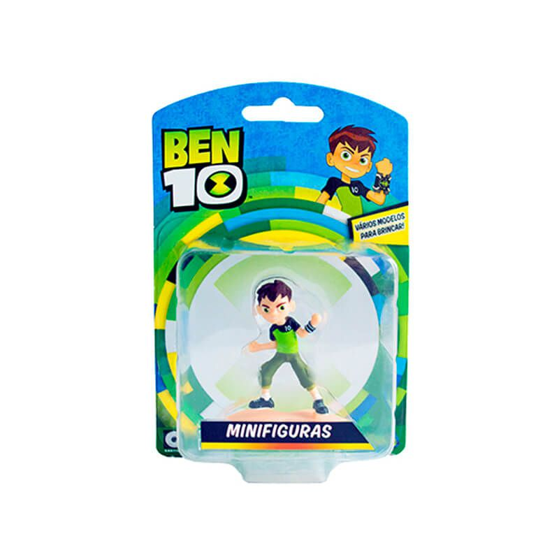 Combo Bonecos Ben 10 Mini Figuras - Ben Tennyson + Chama + XLR8 + Cipó Selvagem | Playmates/Sunny