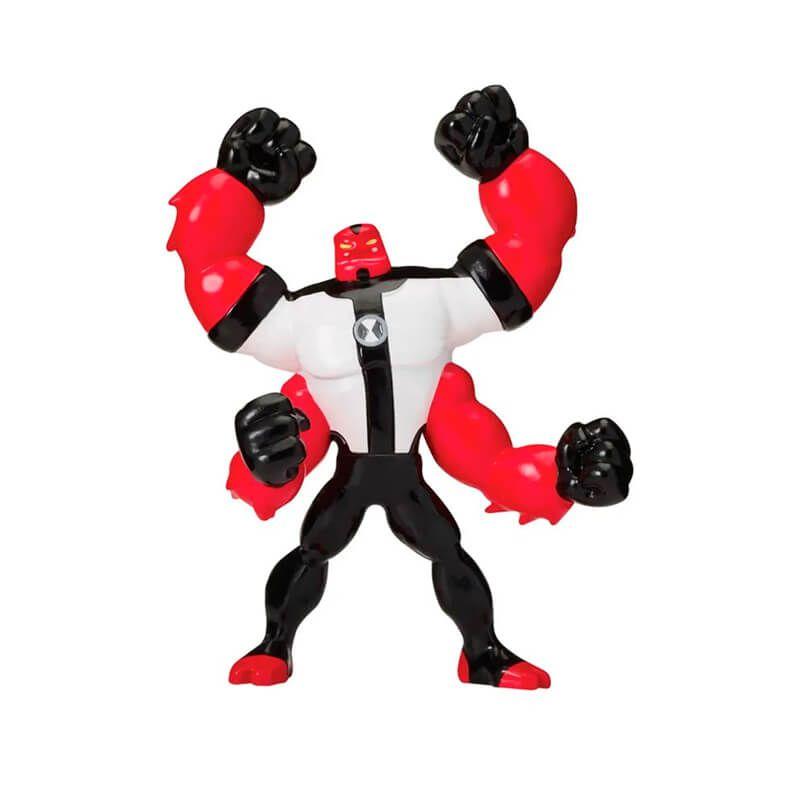 Combo Bonecos Ben 10 Mini Figuras - Ben Tennyson + Quatro-Braços + Ultra T + Hex   Playmates/Sunny