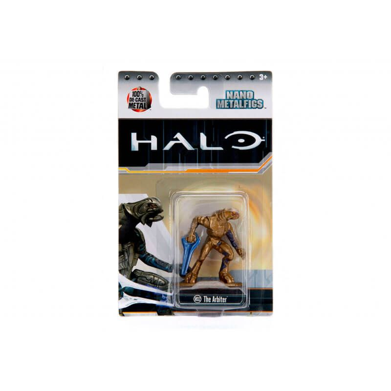 "Combo Bonecos Nano MetalFigs 1,65"" - Emile-A239 + Spartan Vale + Cortana + The Arbiter   Jada/Microsoft - Halo"