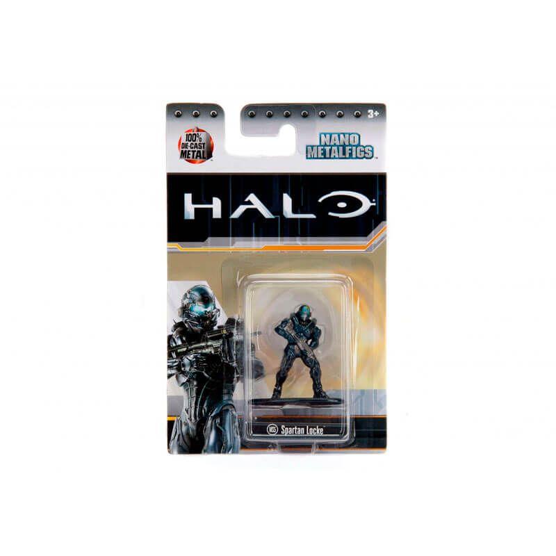 "Combo Bonecos Nano MetalFigs 1,65"" - Master Chief + Spartan Locke + Grunt Minor + Spartan Achilles | Jada/Microsoft - Halo"