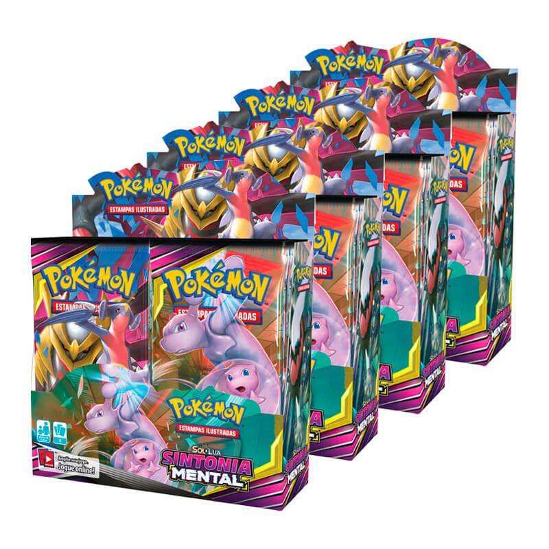 Pokémon TCG: 4x Booster Box (144 pacotes) SM11 Sintonia Mental