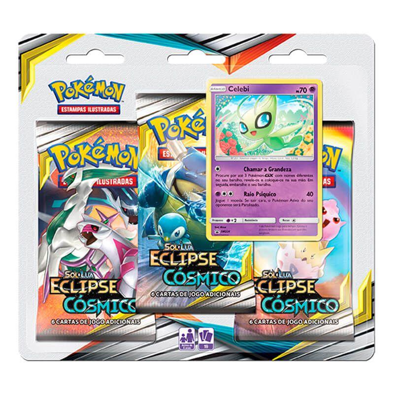 Pokémon TCG: Deck SM12 Eclipse Cósmico - Profundezas Ocultas + Triple Pack Celebi
