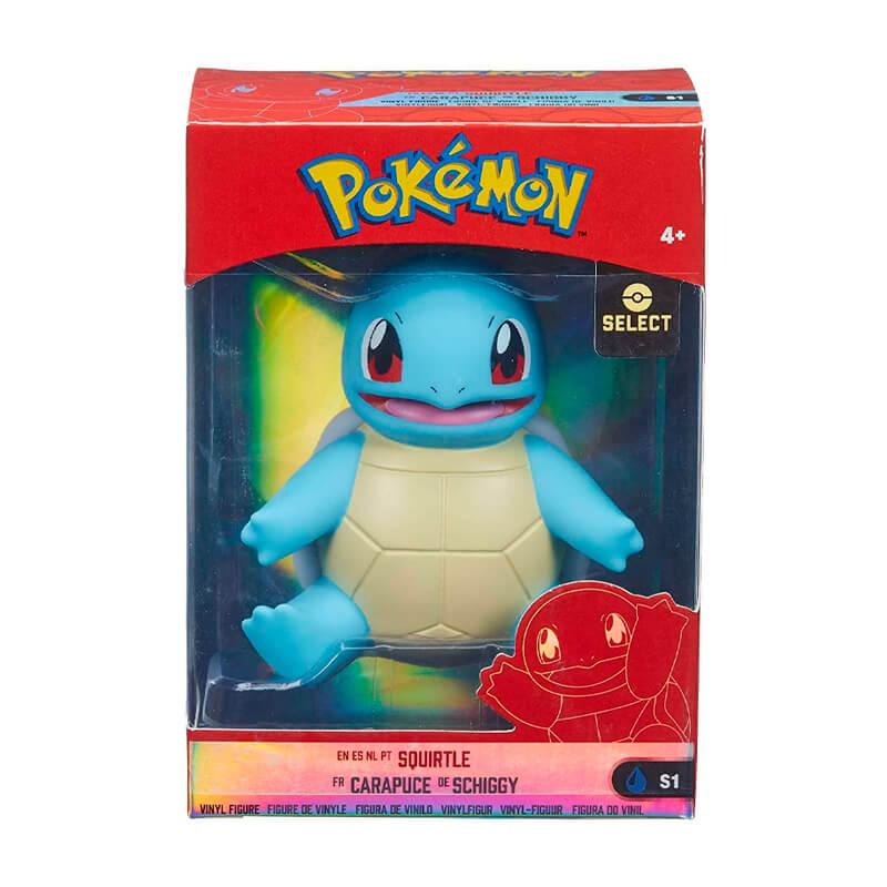 "Figuras Pokémon Select Bulbasaur, Charmander e Squirtle #S1 em Vinilo 4""   Jazwares"