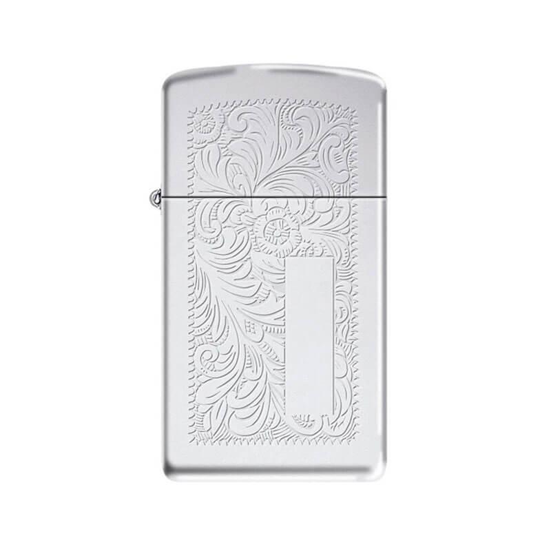 Isqueiro Zippo 1652 Slim® Cromado Venetian® Polido