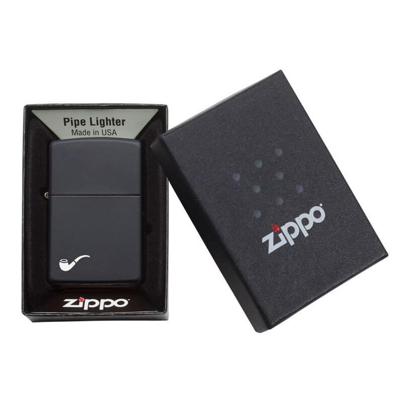 Isqueiro Zippo 218PL Classic para Cachimbo Preto Fosco