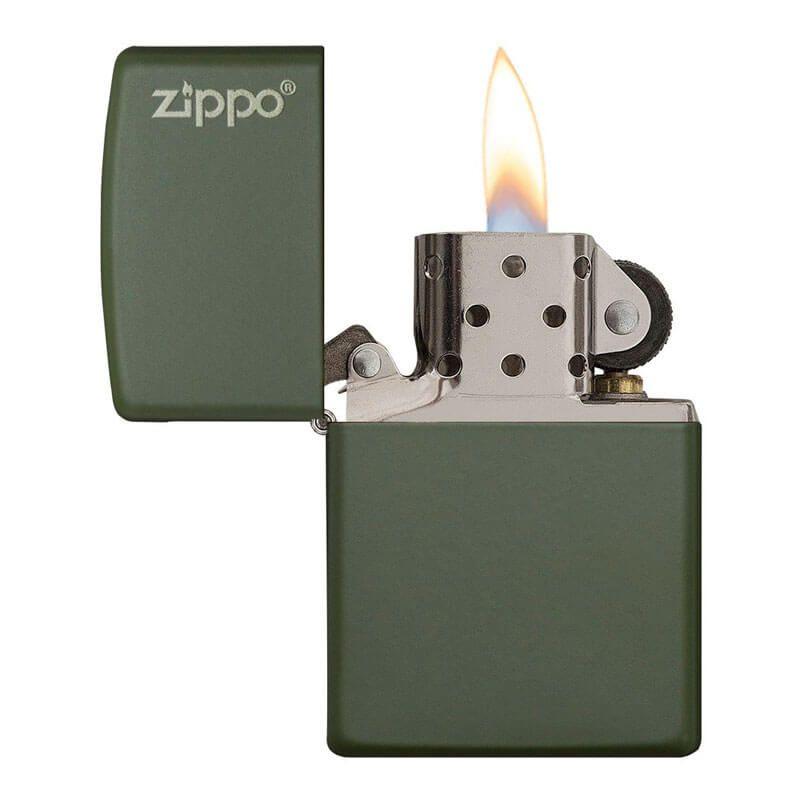 Isqueiro Zippo 221ZL Classic Zippo Logo Verde Fosco
