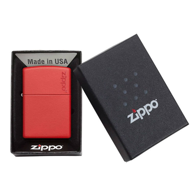 Isqueiro Zippo 233ZL Classic Zippo Logo Vermelho Fosco