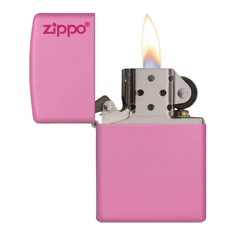 Isqueiro Zippo 238ZL Classic Zippo Logo Rosa Fosco