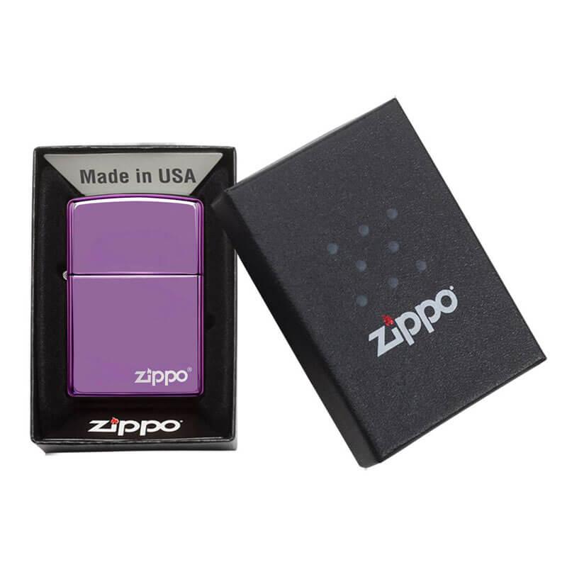 Isqueiro Zippo 24747ZL Classic Roxo Zippo Logo Polido