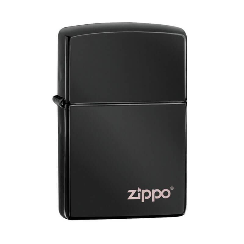 Isqueiro Zippo 24756ZL Classic Preto Zippo Logo Polido