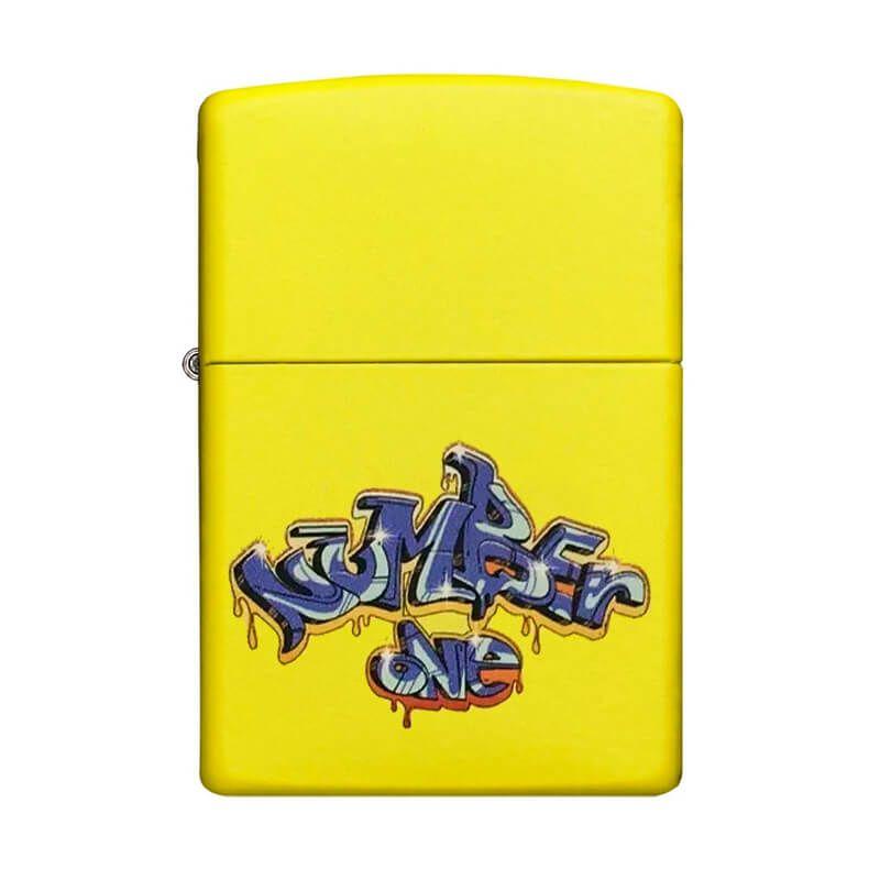 Isqueiro Zippo 24839 Classic Graffiti Number One Lemon