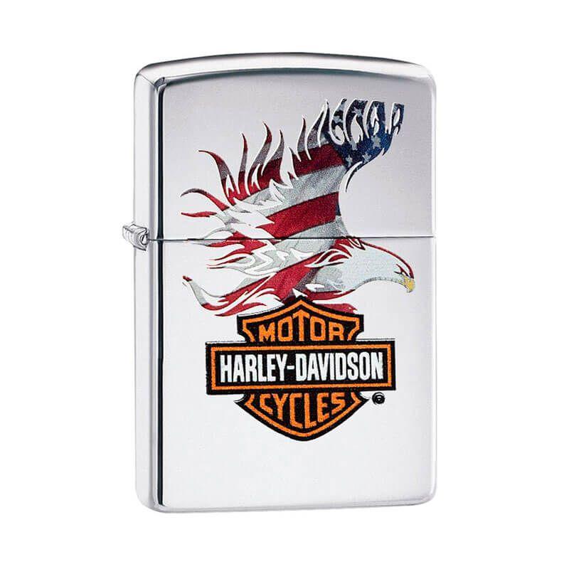 Isqueiro Zippo 28082 Classic Cromado Harley-Davidson® American Eagle Polido
