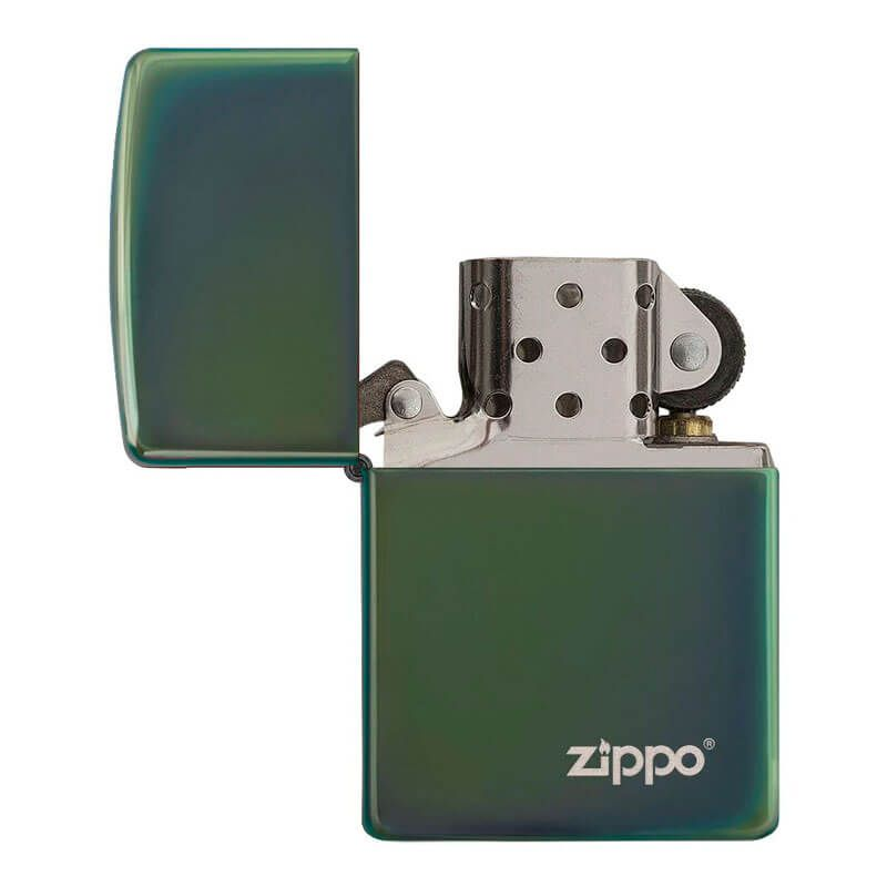 Isqueiro Zippo 28129ZL Classic Verde Zippo Logo Polido