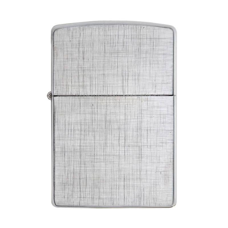 Isqueiro Zippo 28181 Classic Cromado Linen Weave Escovado