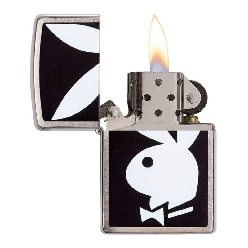 Isqueiro Zippo 28269 Classic Cromado Playboy Bunny Escovado