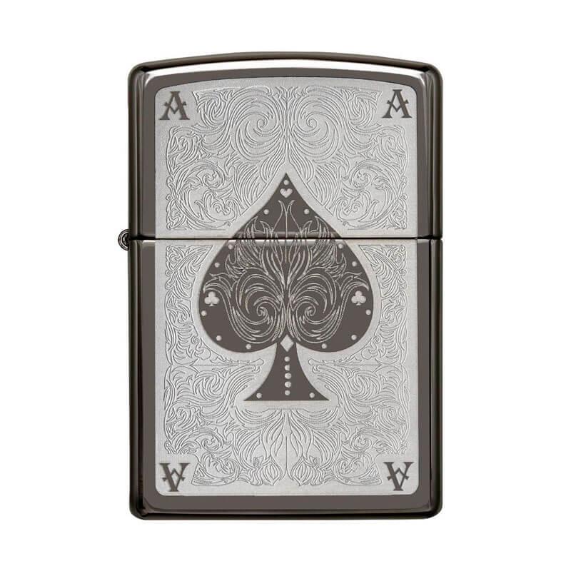 Isqueiro Zippo 28323 Classic Ace Filigree Black Ice®