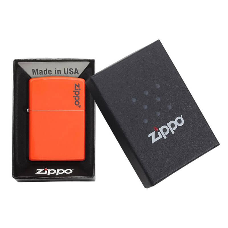 Isqueiro Zippo 28888ZL Classic Zippo Logo Laranja Neon