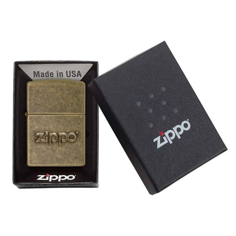 Isqueiro Zippo 28994 Classic Zippo Stamp Latão Antigo