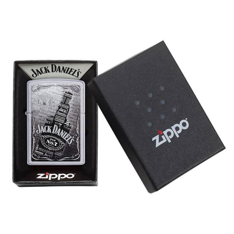Isqueiro Zippo 29285 Classic Cromado Jack Daniel's® Bottle Satin