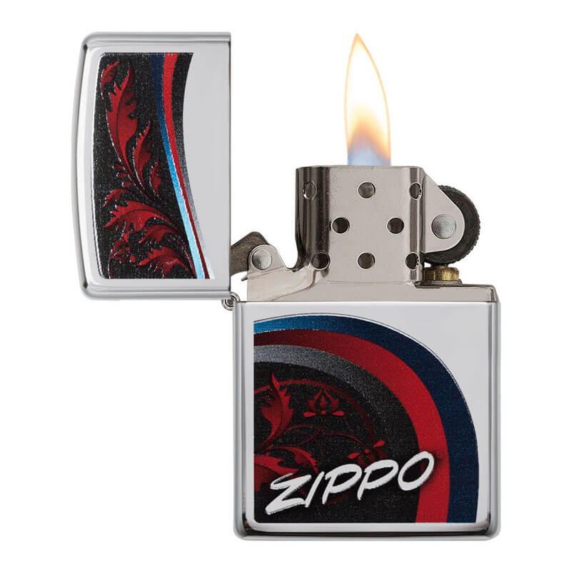 Isqueiro Zippo 29415 Classic Cromado Satin and Ribbons Polido