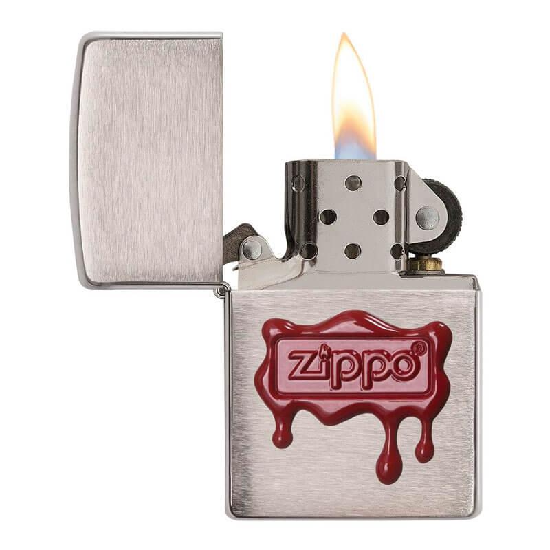 Isqueiro Zippo 29492 Classic Cromado Selo de Cera Escovado