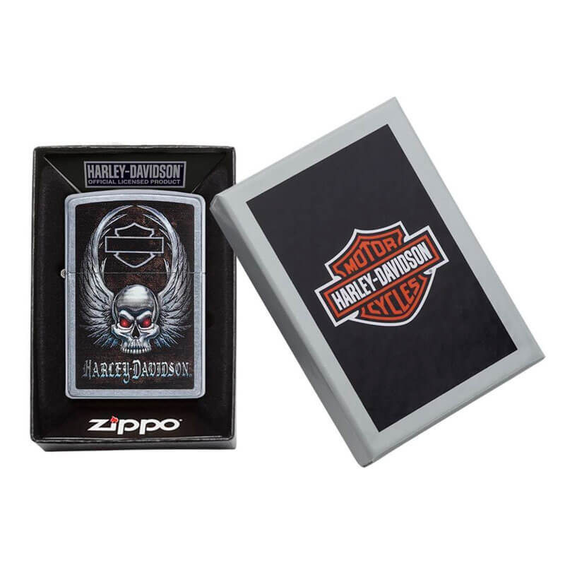 Isqueiro Zippo 29558 Classic Harley-Davidson® Winged Skull Street