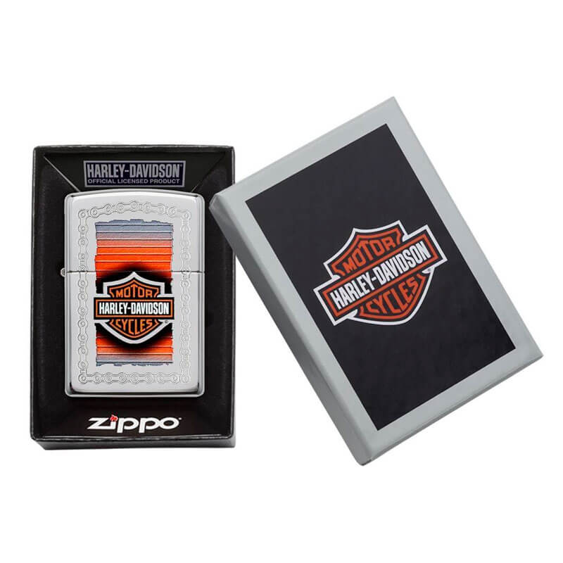 Isqueiro Zippo 29559 Classic Cromado Harley-Davidson® Chains Polido