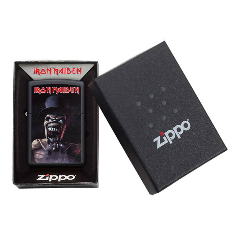 Isqueiro Zippo 29576 Classic Iron Maiden Preto Fosco