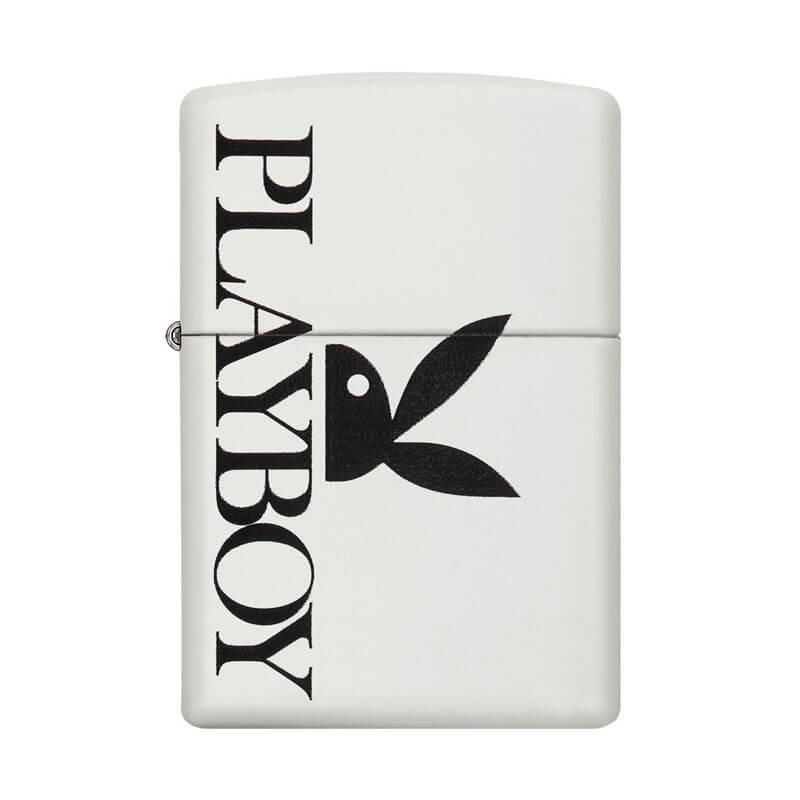 Isqueiro Zippo 29579 Classic Playboy Black Bunny Branco Fosco