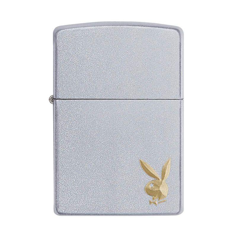 Isqueiro Zippo 29603 Classic Cromado Playboy Golden Bunny Satin