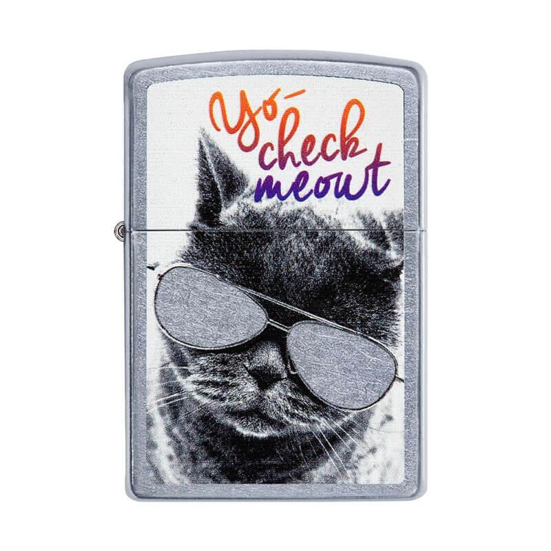 Isqueiro Zippo 29619 Classic Cat with Glasses Street