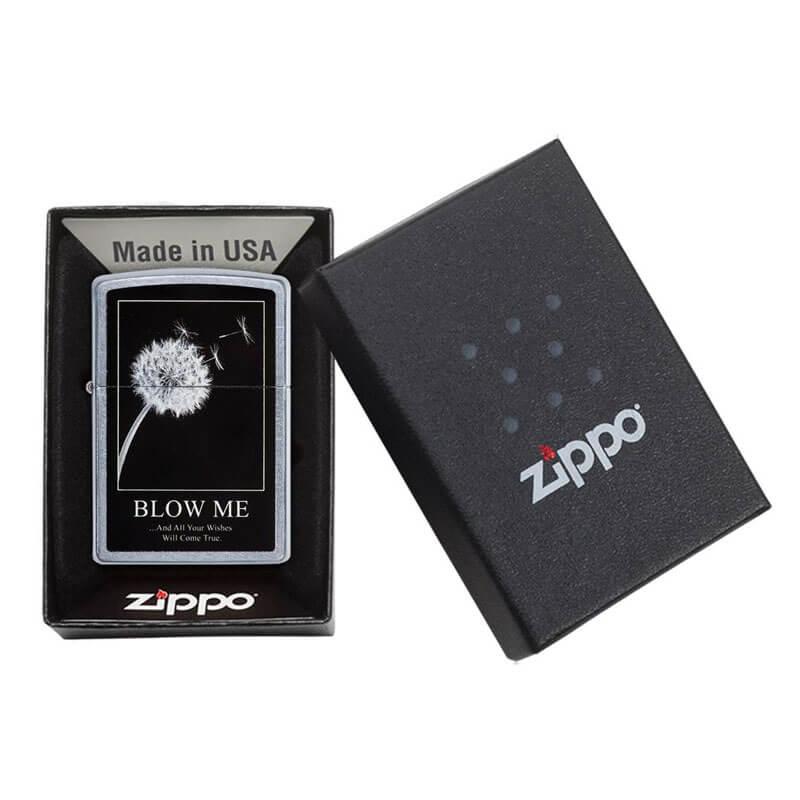 Isqueiro Zippo 29621 Classic Cromado Wishes Street