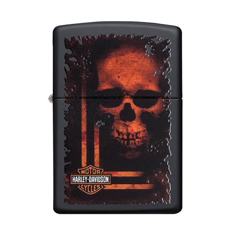 Isqueiro Zippo 29654 Classic Harley-Davidson® Sinister Skull Preto Fosco